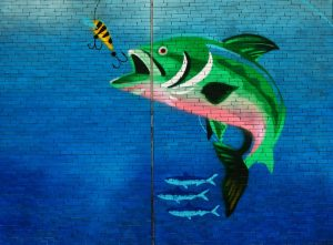 Fish painted on a wall