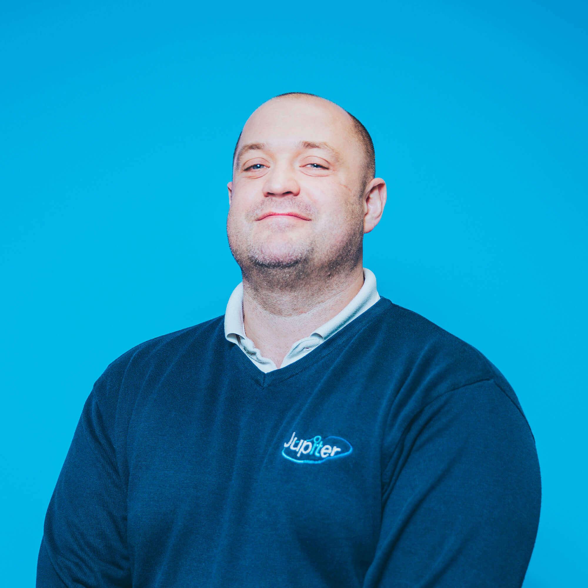 Team member Iain Powell